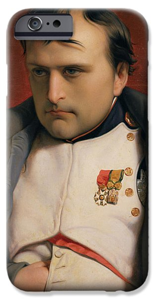Politician iPhone Cases - Napoleon in Fontainebleau iPhone Case by Hippolyte Delaroche