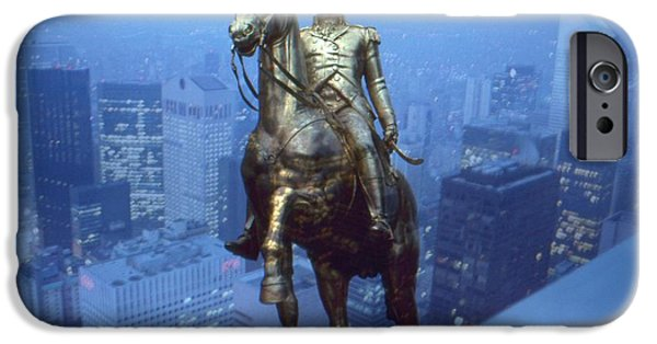 Best Buy Mixed Media iPhone Cases - Napoleon in New York - Photo Collage iPhone Case by Peter Fine Art Gallery  - Paintings Photos Digital Art