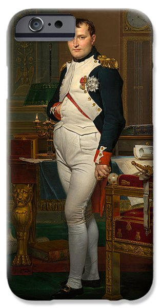 Leaders iPhone Cases - Emperor Napoleon in His Study at the Tuileries iPhone Case by War Is Hell Store