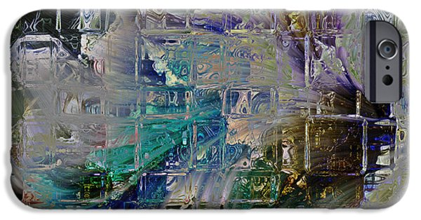 Abstract Expressionism iPhone Cases - Narrative Splash iPhone Case by Richard Thomas