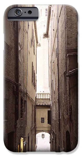 Alley iPhone Cases - Narrow Alley With Old Buildings, Siena iPhone Case by Panoramic Images