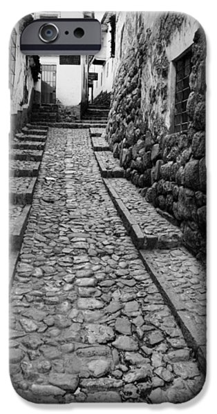 Chip iPhone Cases - Narrow street in Cusco iPhone Case by Alexey Stiop