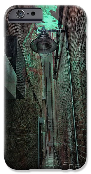 Eerie iPhone Cases - Narrow Street iPhone Case by Jasna Buncic