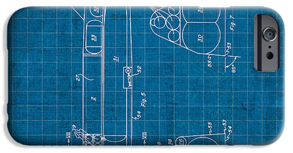 Nasa iPhone Cases - Nasa Space Shuttle Vintage Patent Diagram Blueprint iPhone Case by Design Turnpike