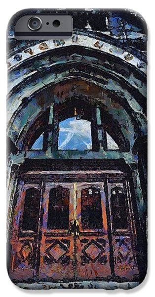 Nashville Tennessee Paintings iPhone Cases - Nashville Custom House Entrance iPhone Case by Dan Sproul
