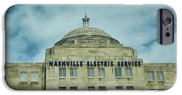Buildings In Nashville iPhone Cases - Nashville Electric Service Building iPhone Case by Jai Johnson