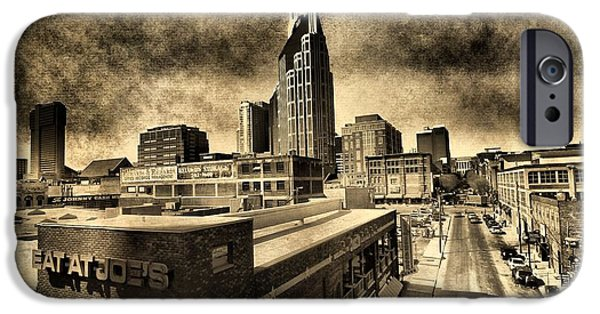 Buildings Mixed Media iPhone Cases - Nashville Grunge iPhone Case by Dan Sproul