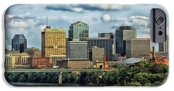Nashville Architecture iPhone Cases - Nashville Panorama iPhone Case by Mountain Dreams