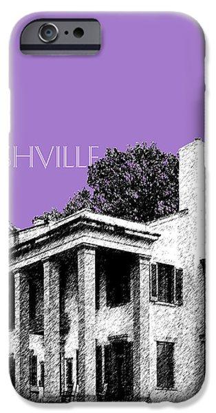 Nashville Skyline Belle Meade Plantation - Violet iPhone Case by DB Artist