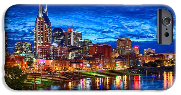 Parked iPhone Cases - Nashville Skyline iPhone Case by Dan Holland