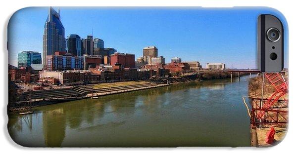Nashville Skyline iPhone Cases - Nashville Skyline  iPhone Case by Dan Sproul