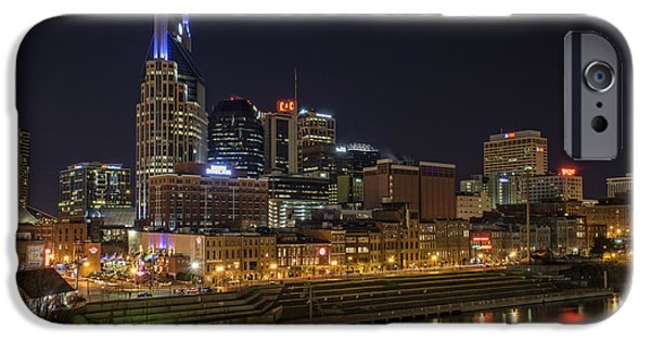 Nashville Tennessee iPhone Cases - Nashville Skyline iPhone Case by Rick Berk