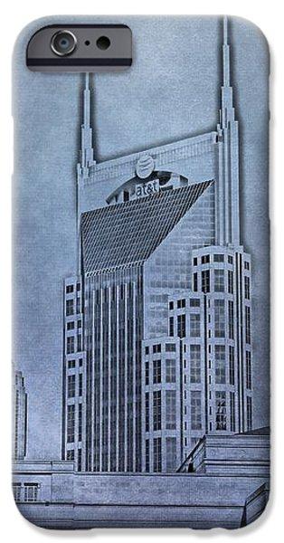 Nashville Skyline Sketch iPhone Case by Dan Sproul