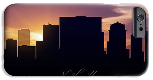 Nashville Architecture iPhone Cases - Nashville Sunset iPhone Case by Aged Pixel