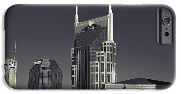 Buildings In Nashville iPhone Cases - Nashville Tennessee Batman Building iPhone Case by Dan Sproul