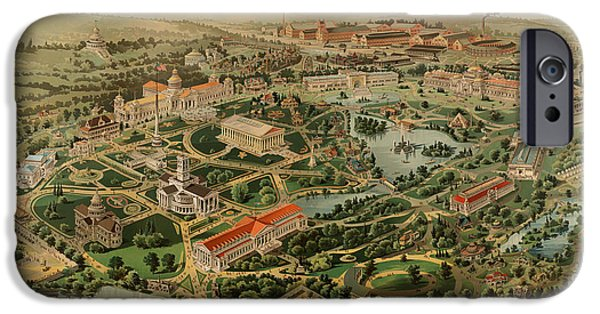 Tennessee Drawings iPhone Cases - Nashville Tennessee Centennial Exposition Map 1897 iPhone Case by Mountain Dreams