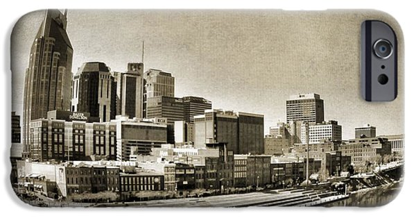 Nashville Skyline iPhone Cases - Nashville Tennessee iPhone Case by Dan Sproul