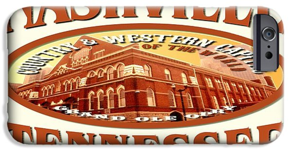 Best Buy Mixed Media iPhone Cases - Nashville Tennessee Poster iPhone Case by Peter Fine Art Gallery  - Paintings Photos Digital Art