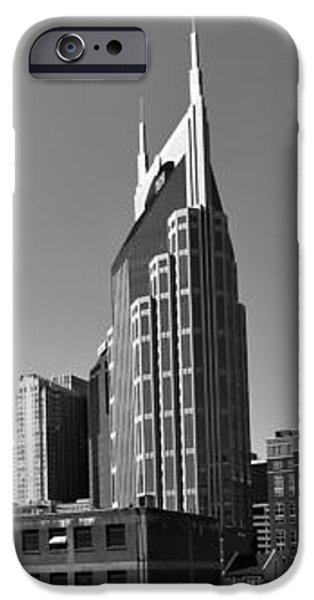 Nashville Tennessee Skyline Black And White iPhone Case by Dan Sproul