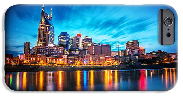 Nashville Tennessee iPhone Cases - Nashville Twilight iPhone Case by Lucas Foley