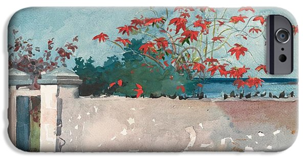 Winslow Homer iPhone Cases - Nassau Bahamas iPhone Case by Celestial Images