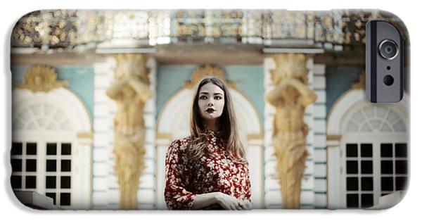 Model Pyrography iPhone Cases - Natalia iPhone Case by Ksenia Kuznetsova