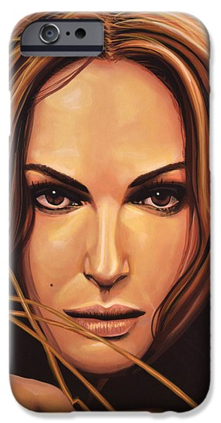 Swans... iPhone Cases - Natalie Portman iPhone Case by Paul  Meijering