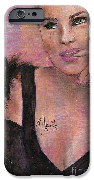 Beautiful Faces iPhone Cases - Natashia iPhone Case by P J Lewis