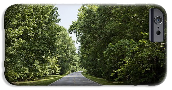 Natchez Trace Parkway iPhone Cases - Natchez Trace Parkway in Cobert County iPhone Case by Carol M Highsmith