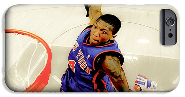 American Professional Basketball Player iPhone Cases - Nate Robinson iPhone Case by Brian Reaves