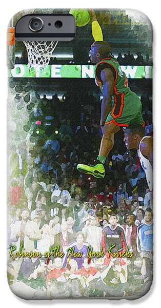 Allstar iPhone Cases - Nate Robinson of the New York Knicks iPhone Case by Don Kuing