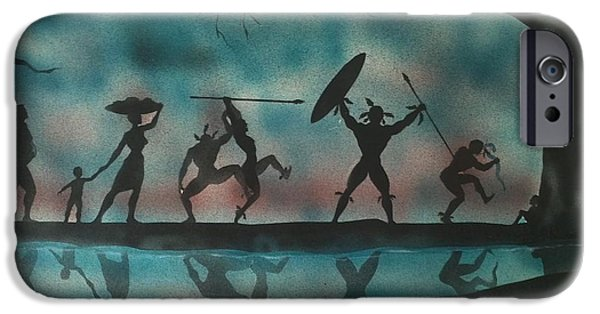 Airbrush iPhone Cases - Nation Dance iPhone Case by Art Johnson