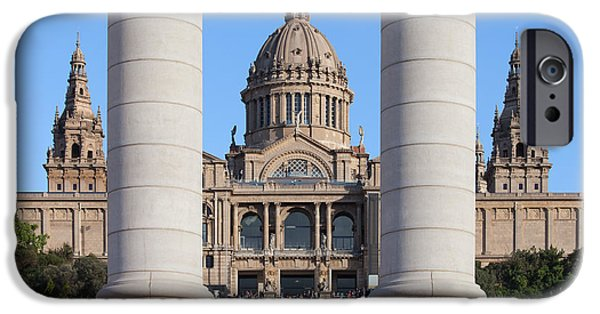 National Building Museum iPhone Cases - National Art Museum of Catalonia in Barcelona iPhone Case by Artur Bogacki