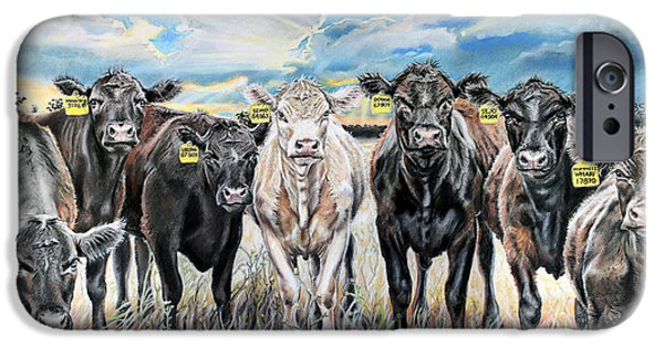 Sun Rays Pastels iPhone Cases - National Beef iPhone Case by Michelle Morris