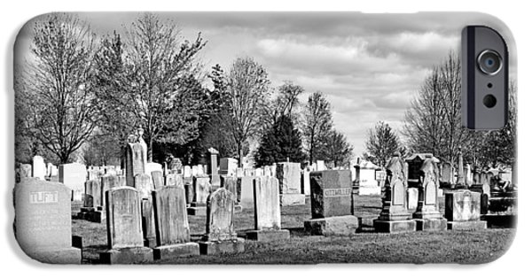 Battlefield Site iPhone Cases - National Cemetery - Gettysburg Battlefield iPhone Case by Brendan Reals