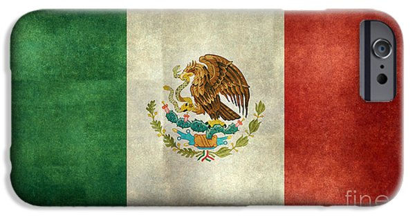 Patriots iPhone Cases - National flag of Mexico iPhone Case by Bruce Stanfield
