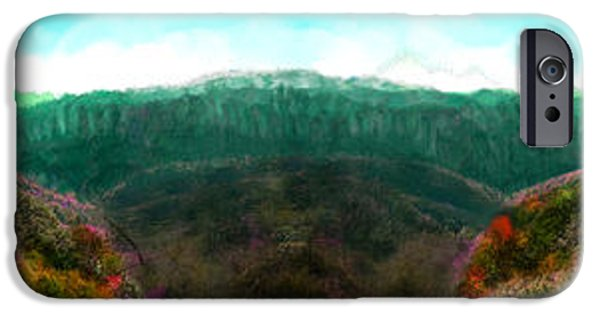 Mounds Paintings iPhone Cases - National Forest iPhone Case by Bruce Nutting