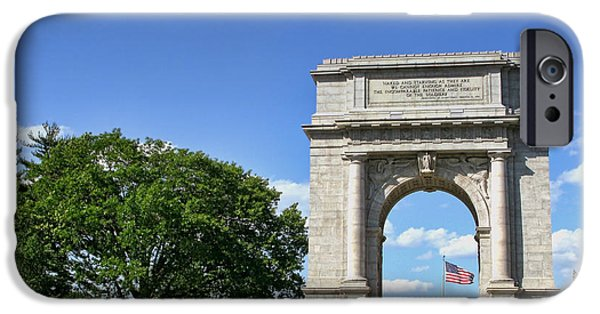 Valley iPhone Cases - National Memorial Arch at Valley Forge iPhone Case by Olivier Le Queinec
