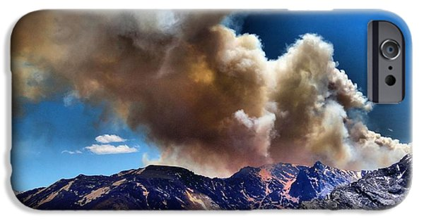 Wildfire iPhone Cases - National Park Fire iPhone Case by Dan Sproul