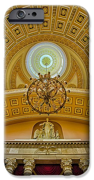 D.c. iPhone Cases - National Statuary Hall iPhone Case by Susan Candelario