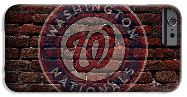 D.c. Digital iPhone Cases - Nationals Baseball Graffiti on Brick  iPhone Case by Movie Poster Prints