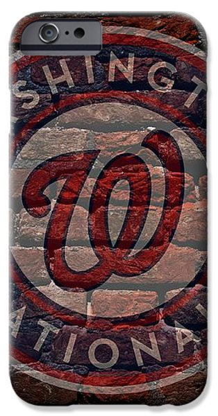 Nationals Baseball Graffiti on Brick  iPhone Case by Movie Poster Prints
