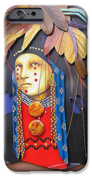 Warrior Goddess Photographs iPhone Cases - Native American Artwork iPhone Case by  Photographic Art and Design by Dora Sofia Caputo