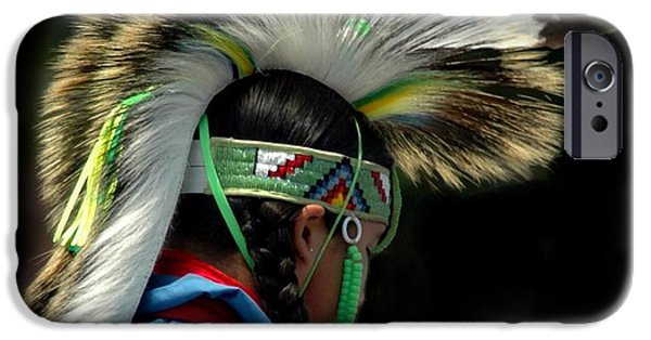 Struckle iPhone Cases - Native American Boy iPhone Case by Kathleen Struckle