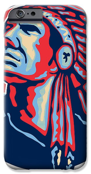 Native American Indian Chief Retro iPhone Case by Aloysius Patrimonio