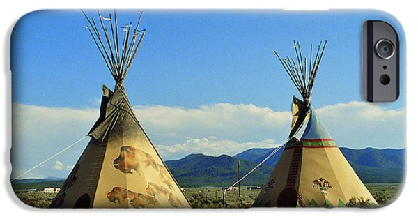 Recently Sold -  - Nation iPhone Cases - Native American Teepees - No.2 iPhone Case by  Photographic Art and Design by Dora Sofia Caputo