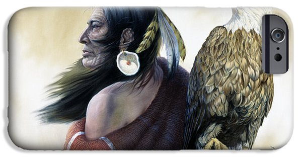 Western Art Digital Art iPhone Cases - Native Americans iPhone Case by Gregory Perillo