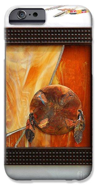 Dreamcatcher iPhone Cases - Native Canadian Art iPhone Case by Al Bourassa
