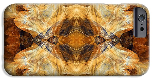 Asymmetrical iPhone Cases - Native Charm - Abstract iPhone Case by Georgiana Romanovna