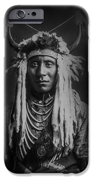 1900 iPhone Cases - Native man circa 1900 iPhone Case by Aged Pixel